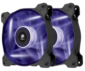 Corsair AF120 LED Purple Quiet Edition High Airflow 120mm Fan Twin Pack