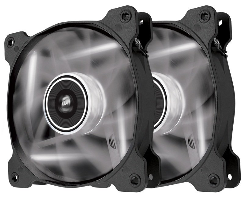 Corsair AF120 LED White Quiet Edition High Airflow 120mm Fan Twin Pack