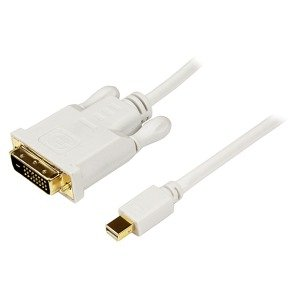 StarTech.com 3 ft Mini DisplayPort to DVI Adapter Converter Cable - Mini DP to DVI 1920x1200 - White