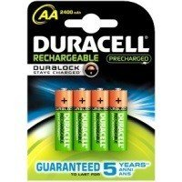 Duracell AA Rechargeable Batteries with Duralock