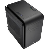 Aerocool Dead Silence Black Gaming Cube Case 0.8mm M-ATX 2 x USB3 Side Window