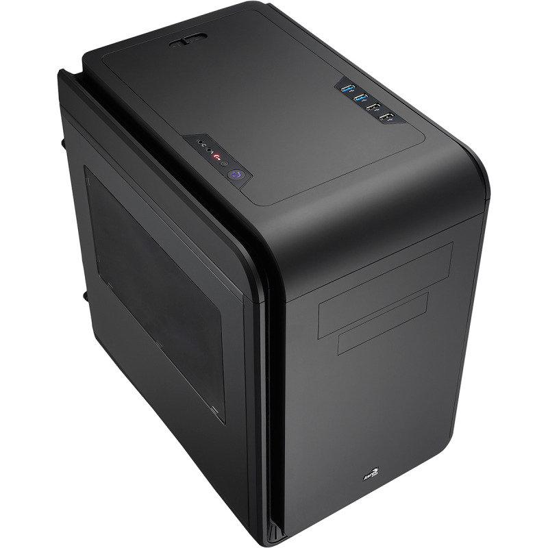 Aerocool Dead Silence Black Gaming Cube Case 0.8mm M-ATX 2 x USB3 Side Window