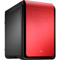 Aerocool Dead Silence Red Gaming Cube Case 0.8mm MATX 2 x USB3 20cm Black Fan