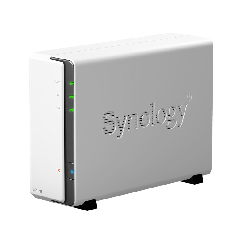 Synology DS112J 4TB (1 x 4TB WD Red) 1 Bay Desktop NAS