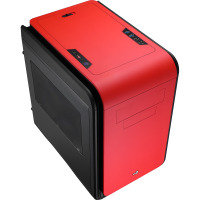 Aerocool Dead Silence Red Gaming Cube Case 0.8mm MATX 2 x USB3 Side Window