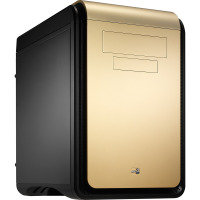Aerocool Dead Silence Gold Gaming Cube Case 0.8mm M-ATX 2 x USB3 20cm Black Fan