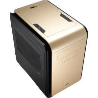 Aerocool Dead Silence Gold Gaming Cube Case 0.8mm M-ATX 2 x USB3 Side Window