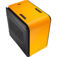 Aerocool Dead Silence Orange Gaming Cube Case 0.8mm MATX 2 x USB3 Side Window