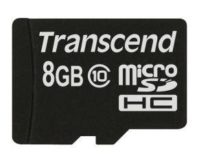 Transcend 8GB MicroSDHC Memory Card