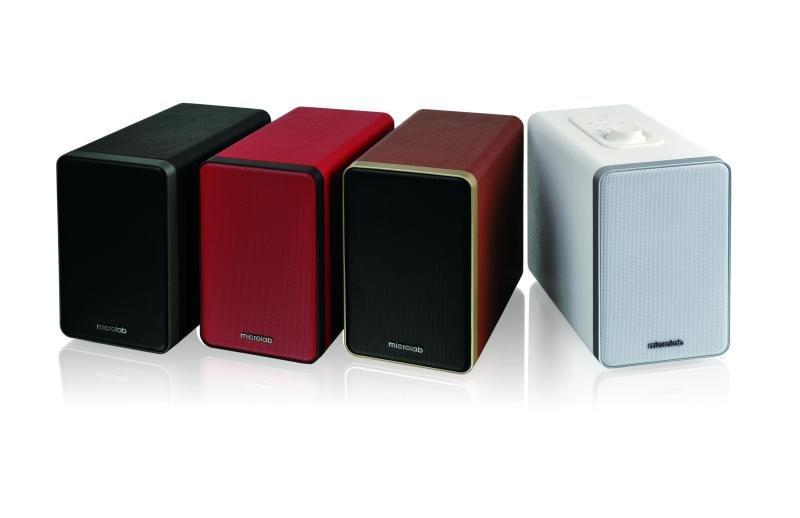 Image of Microlab 2.0 speaker set Bluetooth 36W RMS Black Leather