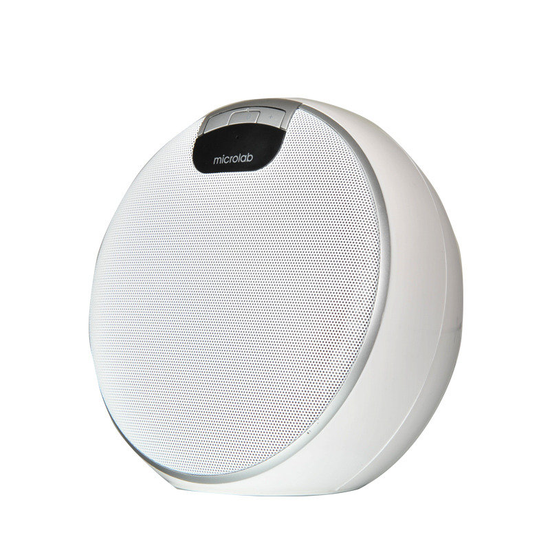 Image of Microlab speaker bluetooth rechargeable battery 4W RMS White