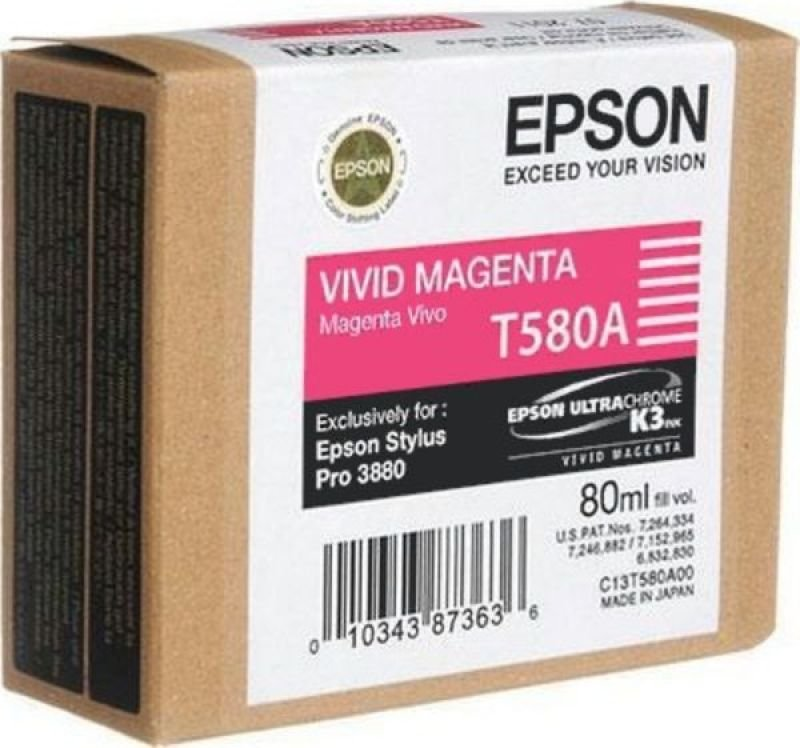 Epson T580A Print Magenta Ink Cartridge
