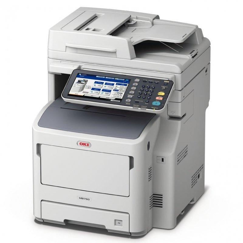 Image of OKI MB760DNFAX A4 Mono Laser Multifunction Printer