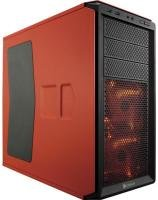 Corsair Graphite Series 230t Compact Mid Tower Case Orange With Orange Led Fans