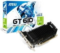 MSI GT 610 2GB DDR3 VGA DVI HDMI PCI-E Graphics Card