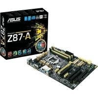 Asus Z87-A C2 Socket 1150 VGA DVI HDMI DisplayPort 7.1 Channel Audio ATX Motherboard