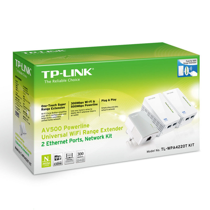 Tp link tl wpa4220t kit av500 powerline universal wifi - Wireless extender with ethernet ports ...