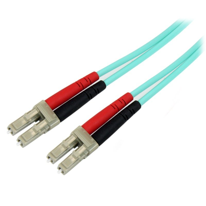 StarTech.com (3m) 10 Gb Aqua Multimode 50/125 Duplex LSZH Fiber Patch Cable LC - LC