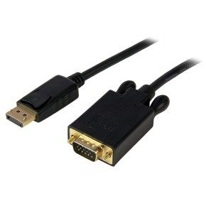 StarTech.com 15ft DisplayPort to VGA Adapter Cable DP to VGA - Black