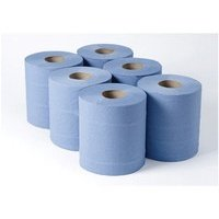 Whitebox 1 ply Blue Centrefeed roll