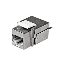 Startech.com Shielded Cat 6A Keystone Jack - RJ45 Ethernet Cat6a Wall Jack White - 110 Type