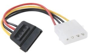 Xenta LP4 Molex MALE to Serial ATA SATA Power Adapter
