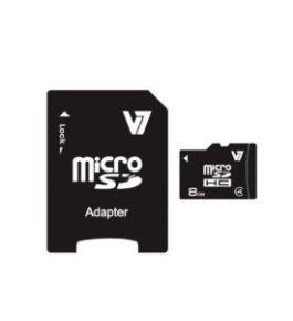 V7 8GB Micro SDHC Memory Card + SD Adapter