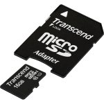 Transcend UHS-I Premium (16GB) Micro SDHC Flash Card With Adaptor (class 10)