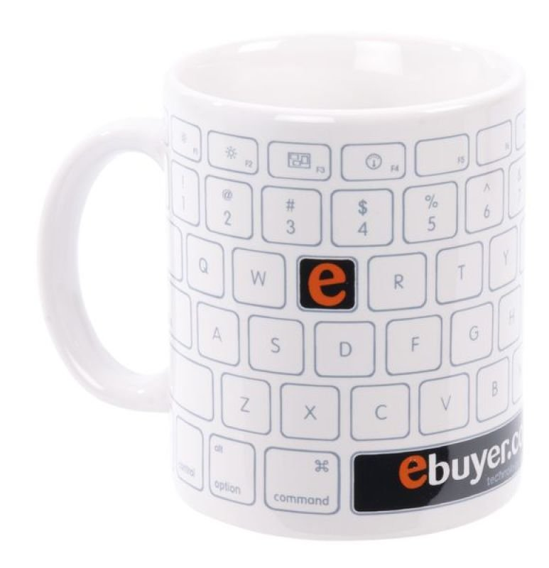 Ebuyer Keyboard Design 11oz Mug Single Pack