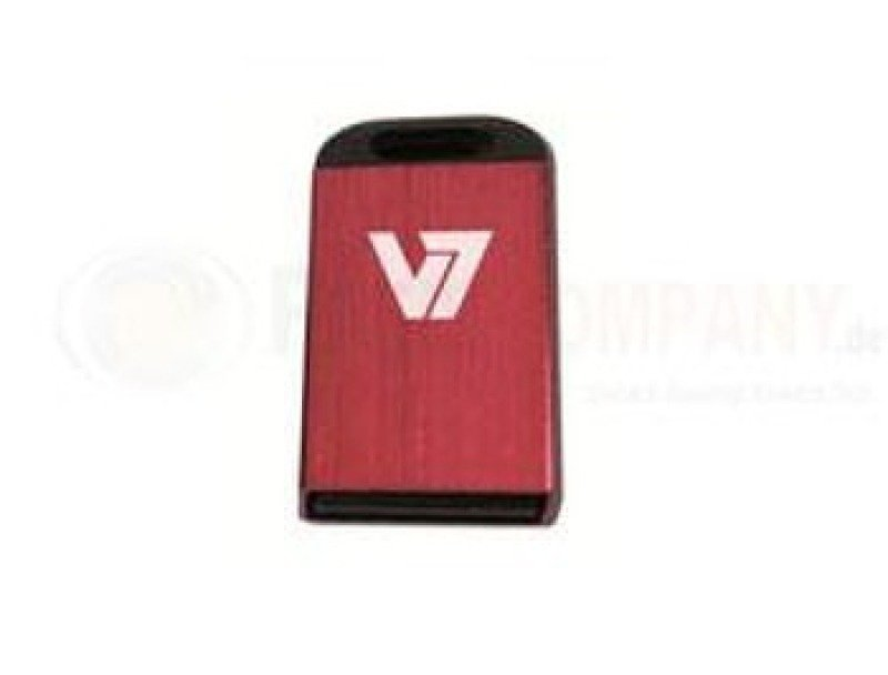 16GB V7 USB 2.0 Nano Flash Drive (Red)