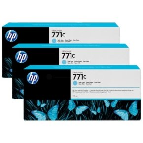 HP 711C 775-ml Light Cyan 3 Pack Ink Cartridge - B6Y36A