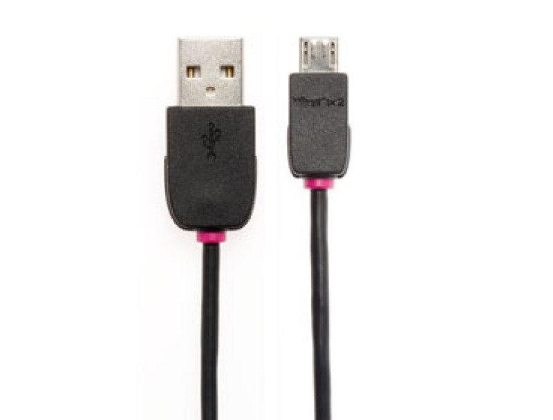 Techlink Wires NX2 USB 2.0 A Plug to USB 2.0 B Micro Plug