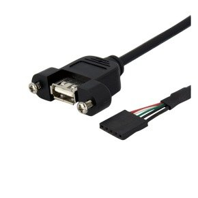 StarTech.com (3 feet) Panel Mount USB Cable - USB A to Motherboard Header Cable F/F