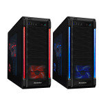 CiT Galaxy Evo Gaming Case USB3 3x Red/Blue LED Switchable Fans + Bubble LED