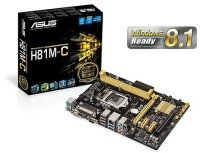 Asus H81M-C Socket 1150 VGA DVI 8 Channel HD Audio mATX Motherboard
