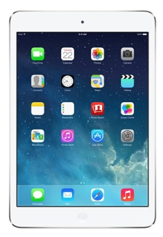 "Apple iPad Mini With Retina Display A7 chip 32GB Flash 1GB RAM 7.9"" Retina Touch WIFi Cellular Bluetooth Apple iOS 9  Silver"