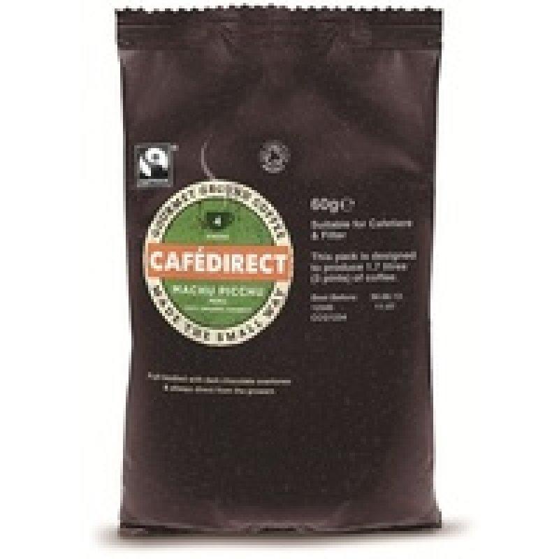 Image of Cafedirect Machu Picchu Ground Coffee 60g Pk45