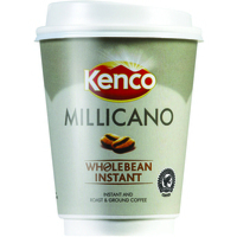 Image of Kenco Millicano Black 2Go 340ml Cups (Pk 8)