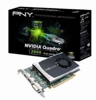 PNY NVIDIA Quadro 2000 VCQ2000-PB 1GB GDDR5 PCI Express 2.0 x16 Workstation Video Card