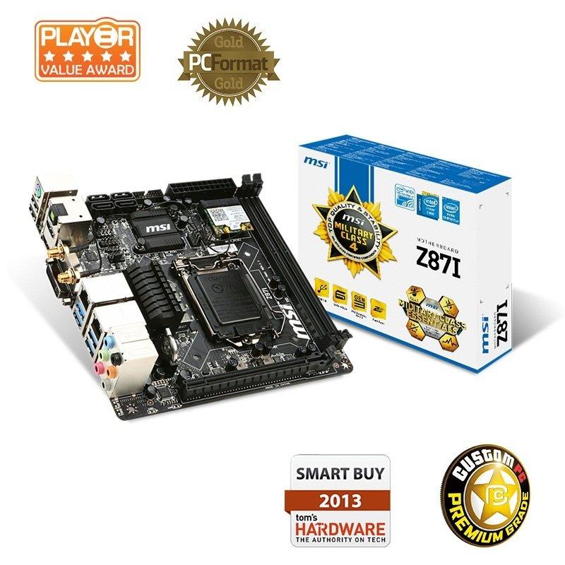 MSI Z87I Socket 1150 VGA DVI HDMI mini-ITX Motherboard