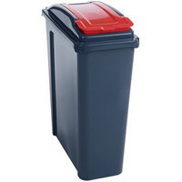 Slingsby 25 Litre Recycling Bin - Grey and Red