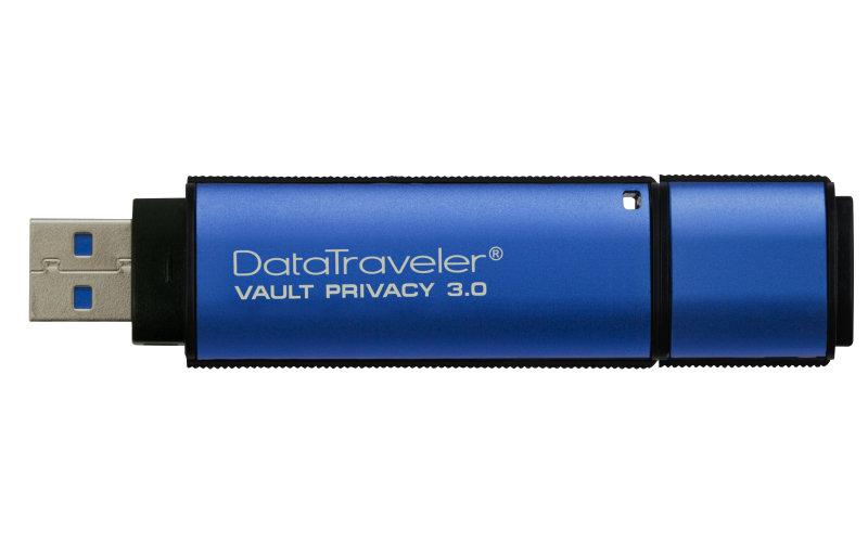 Kingston Technology Data Traveler Vault Privacy USB 3.0 Hardware Encrypted 8GB Secure Flash Drive