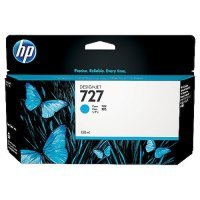 HP 727 Cyan Original Designjet Ink Cartridge - Standard Yield 130ml - B3P19A