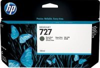HP 727 Matte Black OriginalDesignjet Ink Cartridge - Standard Yield 130ml - B3P22A