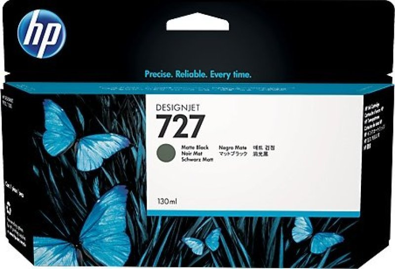 HP 727 Matte Black Original Designjet Ink Cartridge - Standard Yield 130ml - B3P22A