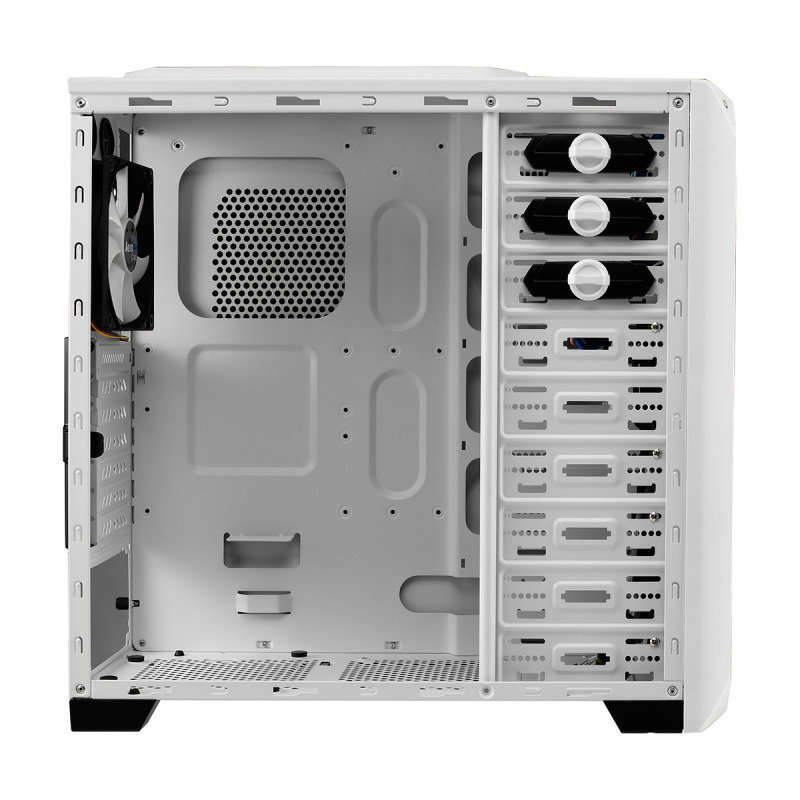 Aerocool VS-92 White ATX Gaming Case USB3 White Interior Side Window No Psu