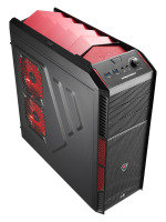 Aerocool X-Predator X1 Devil Red Gaming Case Black Interior 12cm Red LED Fan