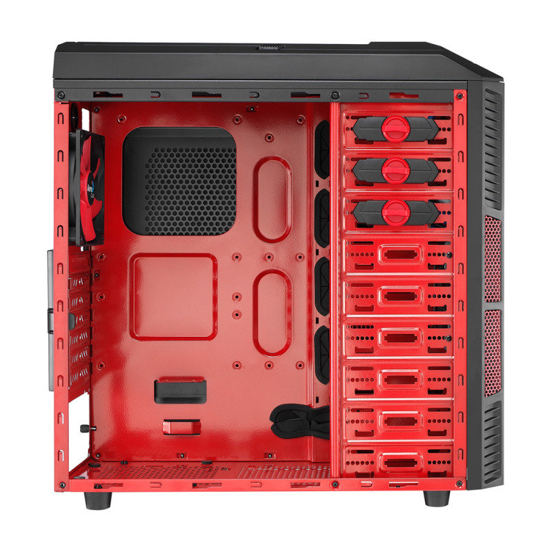 Aerocool X-Predator X1 Devil Red Gaming Case Black Interior 12cm Red LED Fan
