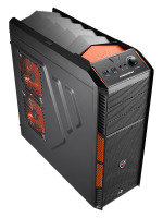 Aerocool X-Predator X1 Evil Black Gaming Case Black Interior 12cm Orange LED
