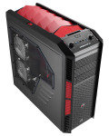 Aerocool X-Predator X3 Devil Red Gaming Case Black Interior 20CM Red LED Fan